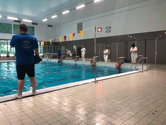Jeugd zwemmers Z&PC DIO zwemmen trainingswedstrijd